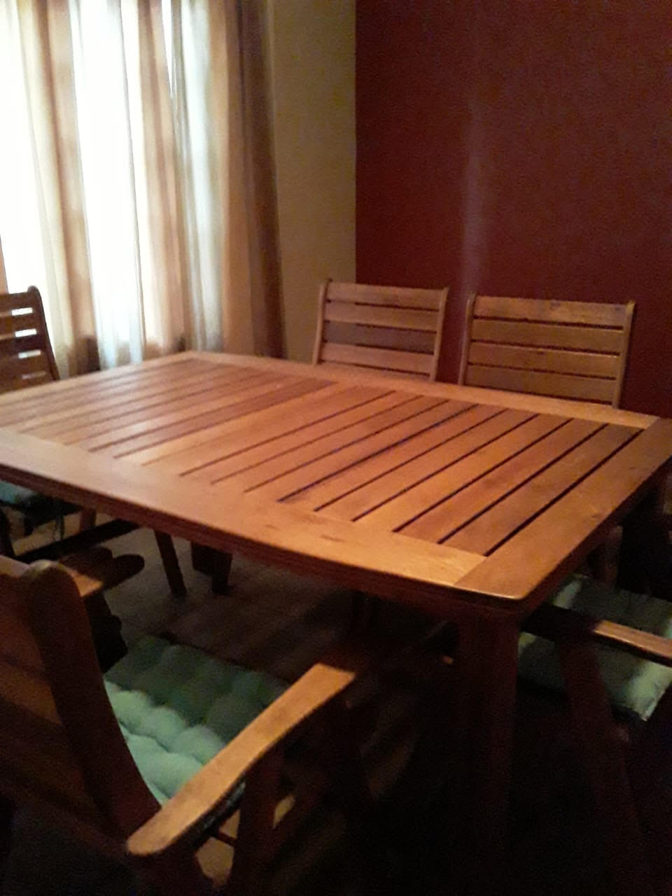 Used wooden dinning table